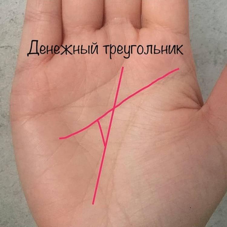 денежный треугольник на ладони фото грузоподъемность