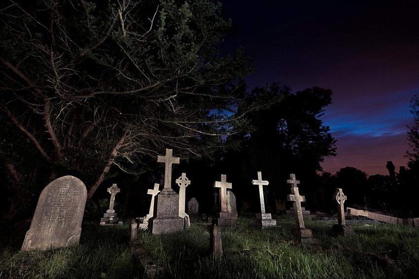 Обряд на землю с кладбища